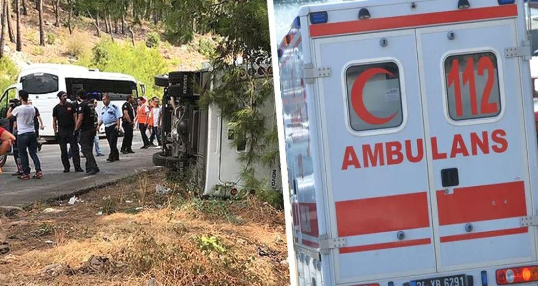 ДТП в Турции: российские туристы пострадали в аварии туристического автобуса
