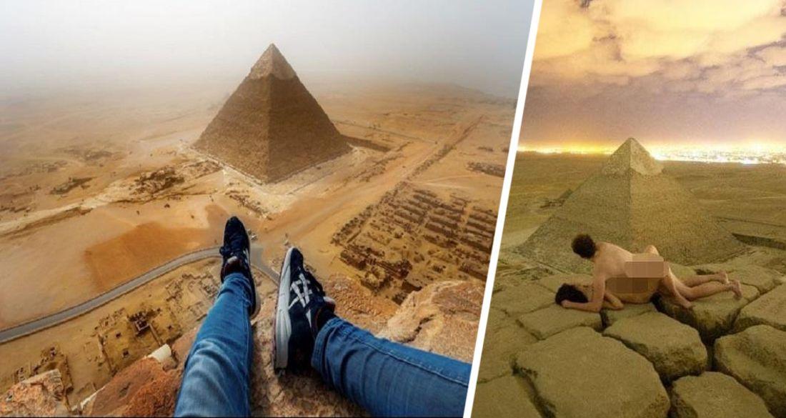Теперь залезть на пирамиды Гизы в Египте станет уголовным преступлением