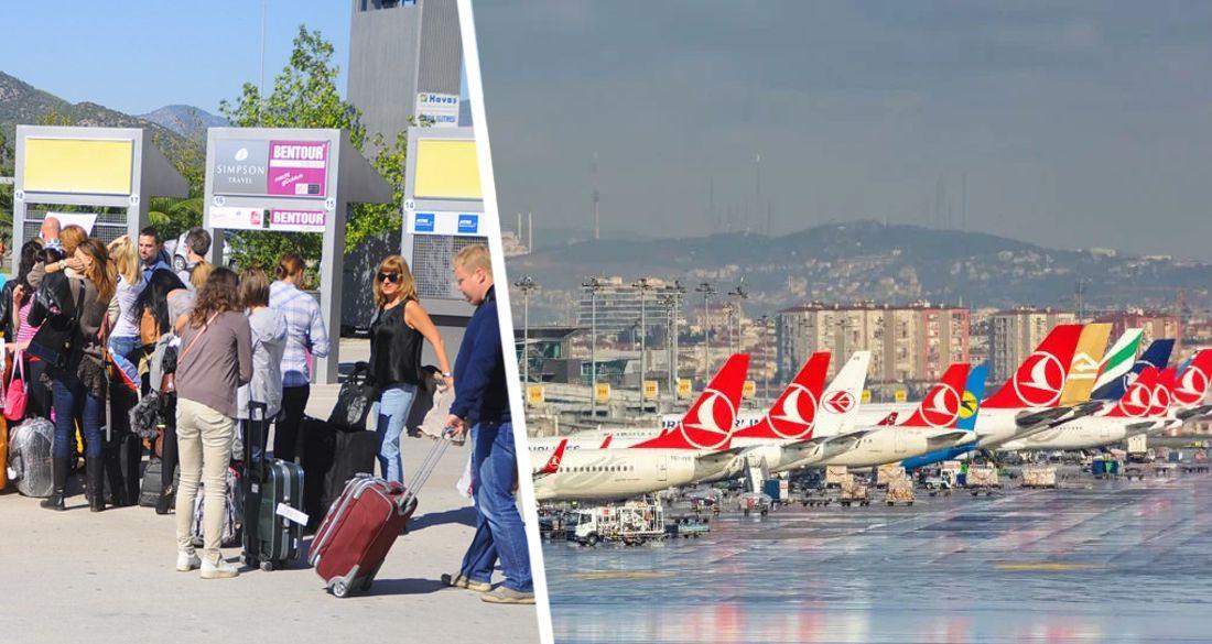 Въезд туристов в Анталию сократился вдвое