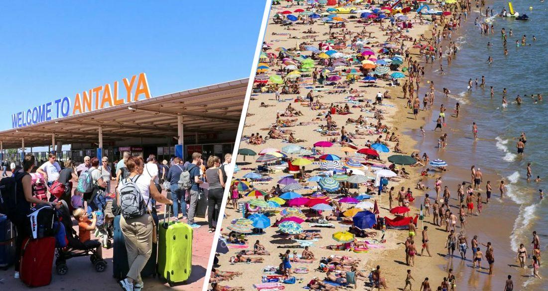 В Анталию хлынули толпы: на курорт за день прибыло 45'502 туриста на 208 самолетах из 18 стран