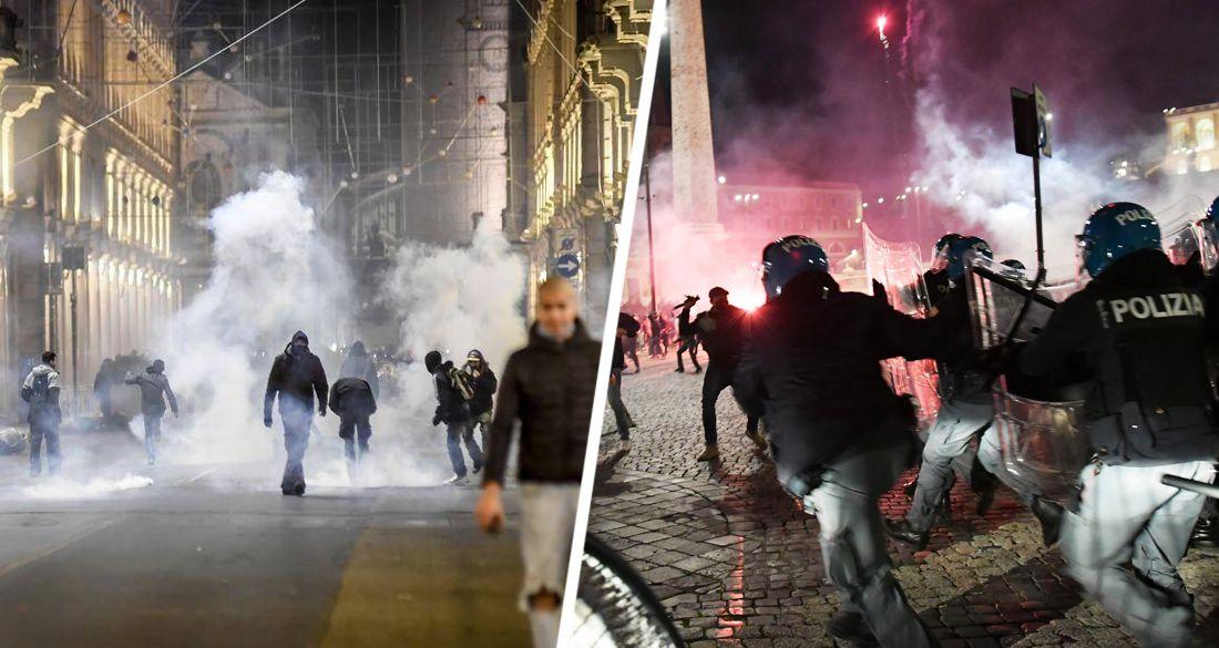 Турин, Милан ... и далее везде: в Италии антиковидные протесты переросли в массовые беспорядки