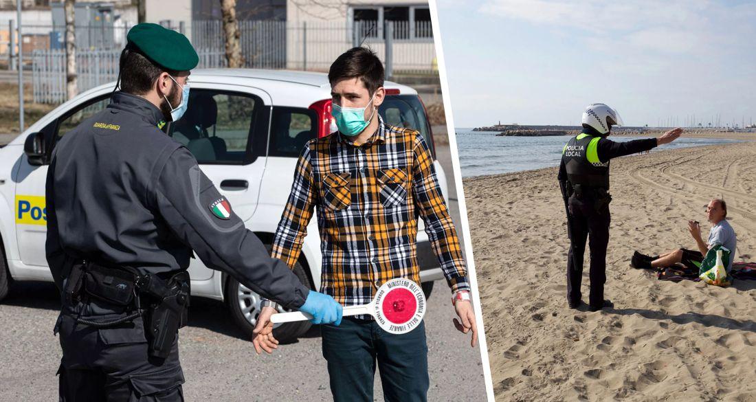 Комендантский час и никакого кино: Испания и Италия ужесточают режим и вводят ЧП