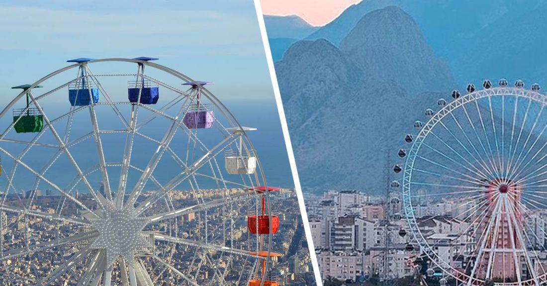 На курорты Турции пришла политика: в Анталии колесо обозрения раскрасили в цвета Азербайджана из-за Карабаха