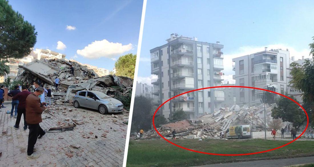 ϟ Мощнейшее землетрясение в 7 баллов обрушилось на Турцию и Грецию, разрушая здания от Измира до Мармариса. ФОТО