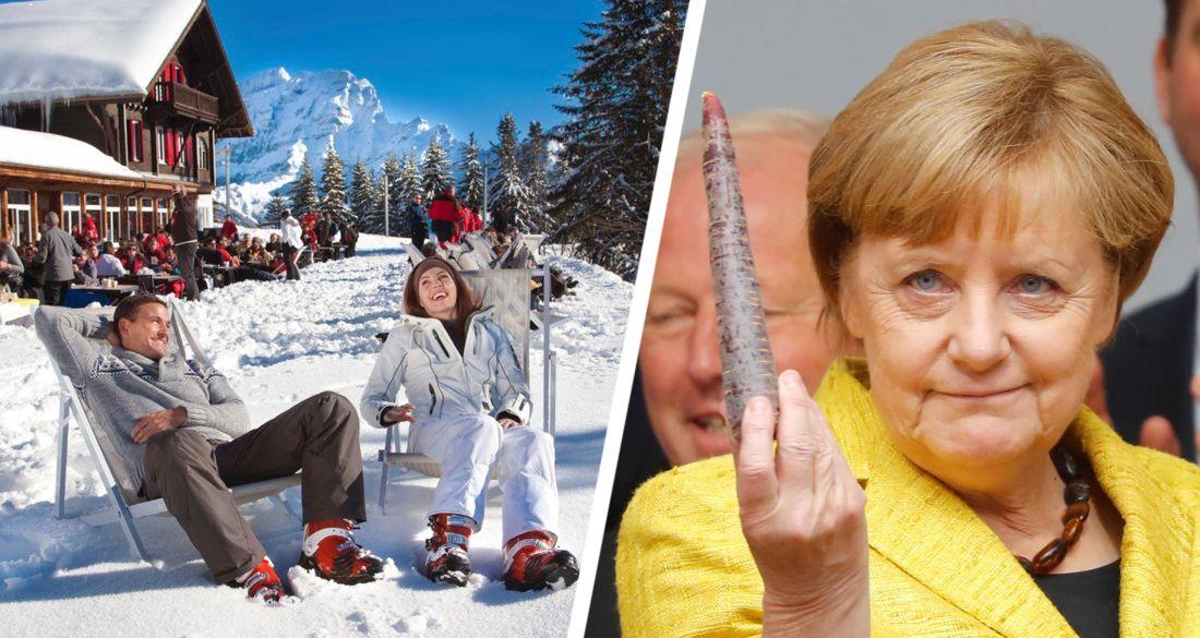 Ангела Меркель потребовала закрыть в Европе все горнолыжные курорты