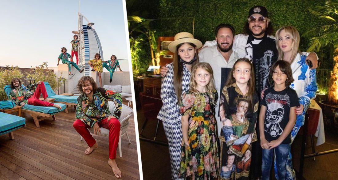 Застолье в Дубае: Киркоров опубликовал фото из Эмиратов с детьми и Михайловым