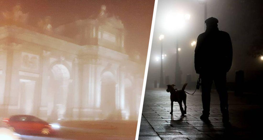 Призрачный туман напугал людей в Мадриде. ФОТО