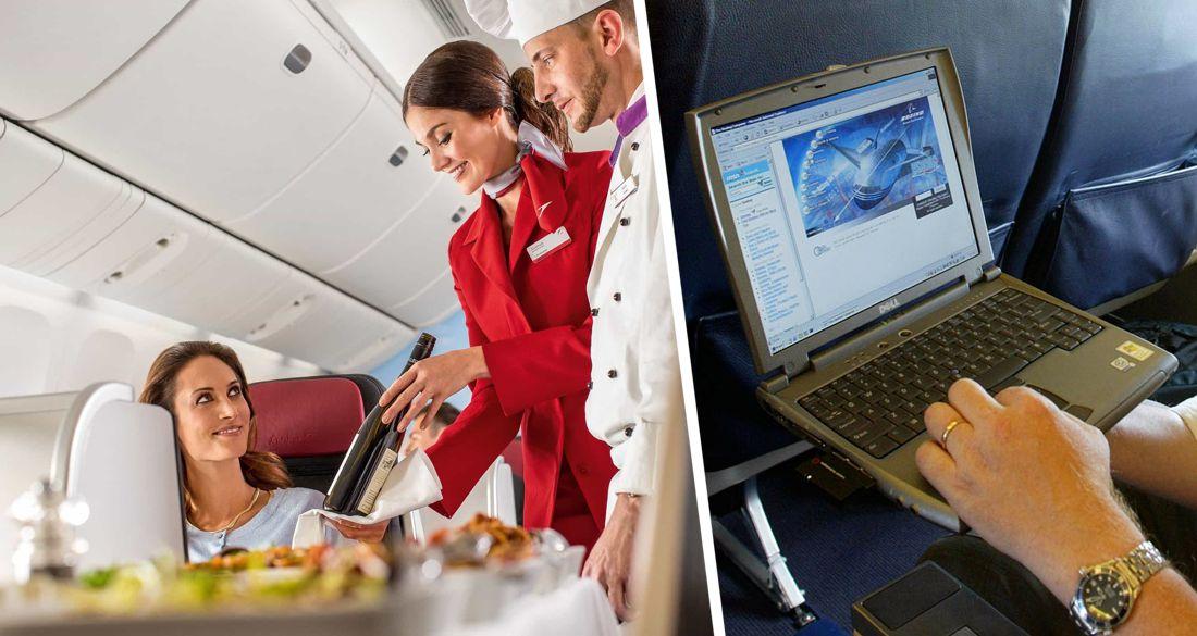 Выпивая в самолете, следи за задом стюардессы: Мосгорсуд оправдал порчу ноутбука вином