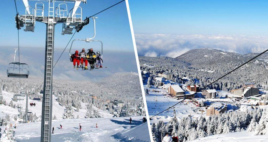 ⛷ В Улудаге выпал снег: горнолыжный курорт Турции готовится к приему российских туристов