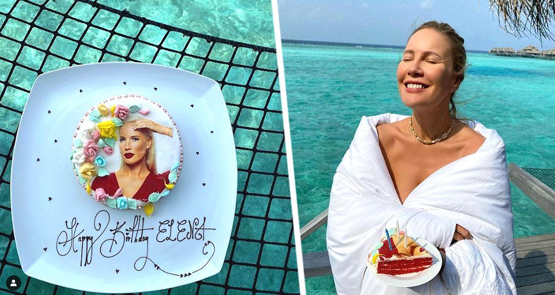 Елена Летучая на Мальдивах получила подарок в виде собственного лица