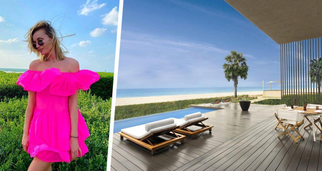 Полина Гагарина выложила кокетливые фото с отдыха в ОАЭ