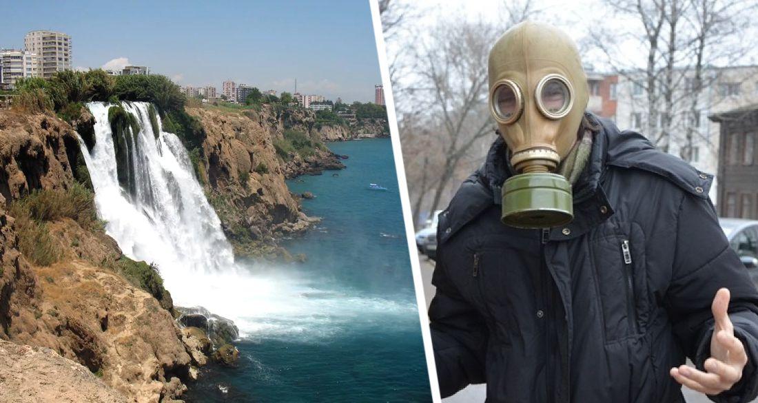 Знаменитый водопад в Анталии начал пугать туристов зловонием