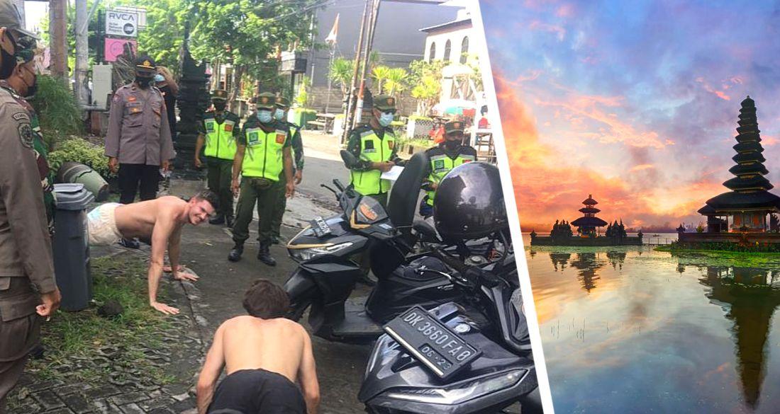 «Упал - отжался»: иностранных туристов на Бали полиция теперь не штрафует, а заставляет отжиматься