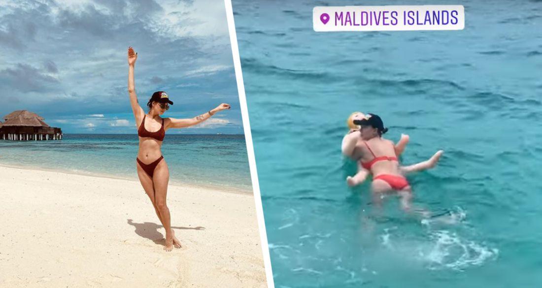 Звезда «Универа» поплавала на Мальдивах на надувной секс-кукле