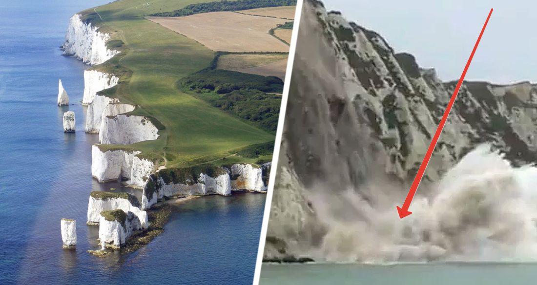 Катастрофа в Великобритании: в море рухнула туристическая достопримечательность. ВИДЕО