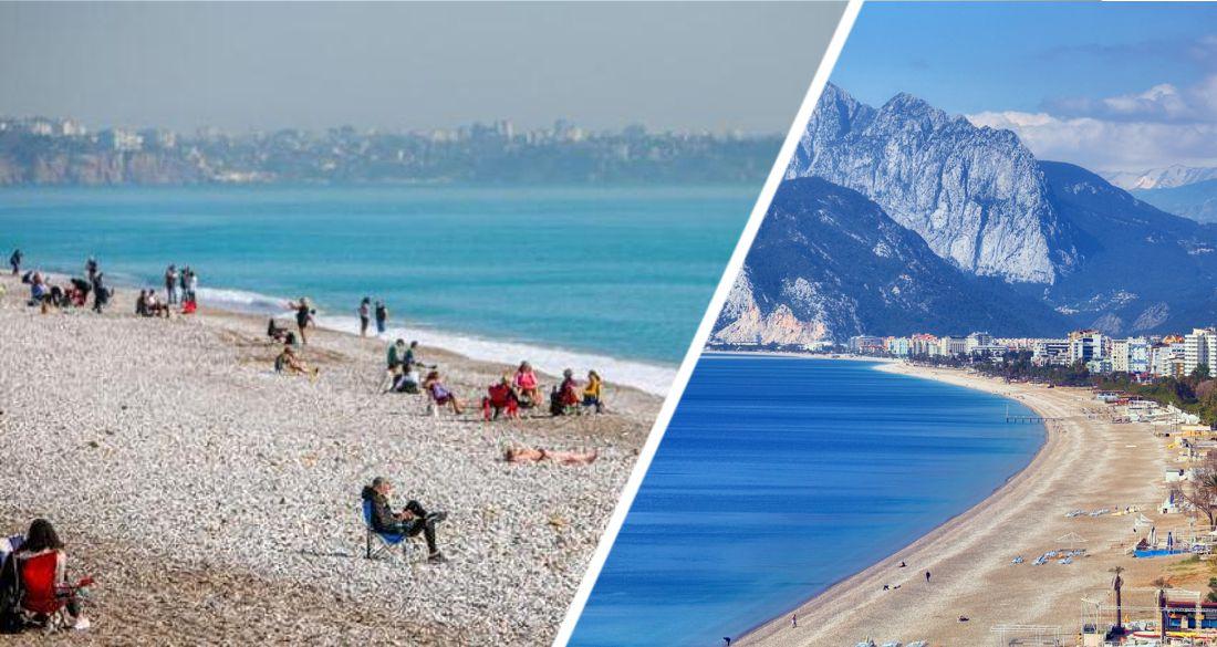 ☼ В Анталию пришла весна: российские туристы пошли на пляж