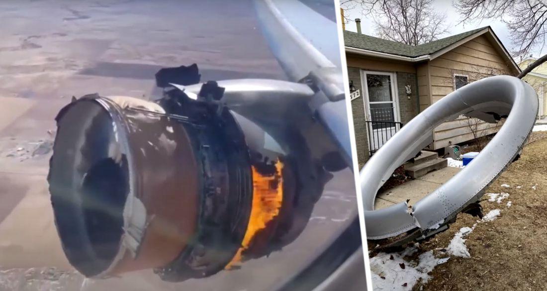 Туристы сняли горящий двигатель самолёта во время полёта на курорт. ВИДЕО