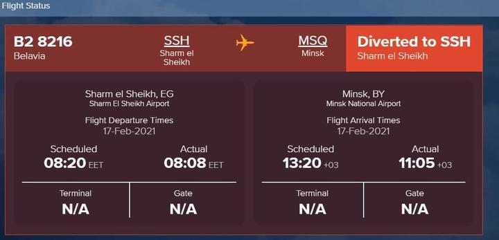 Скриншот: flightstats.com