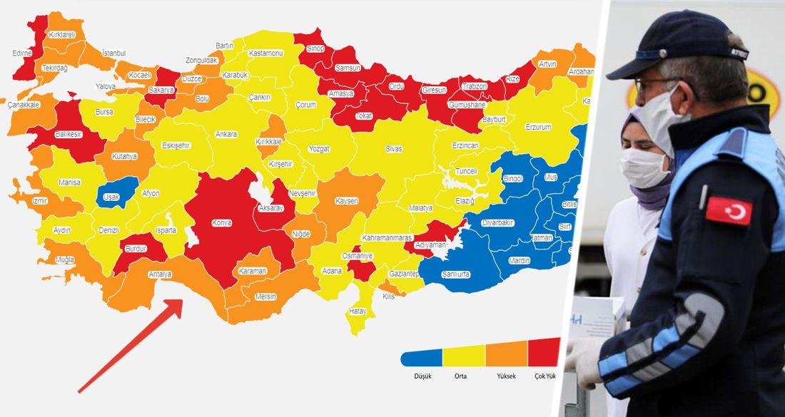 Над туризмом Турции нависла угроза: Анталия уверенно идет в красную зону из оранжевой