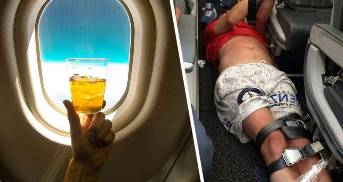 Звезда Дом-2 пронесла в самолет пиво, устроив дебош. ВИДЕО