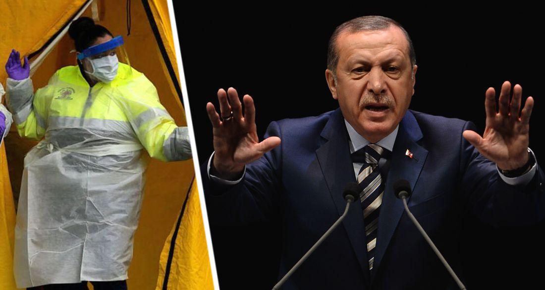 Эрдоган закрыл Турцию изнутри, введя блокировку
