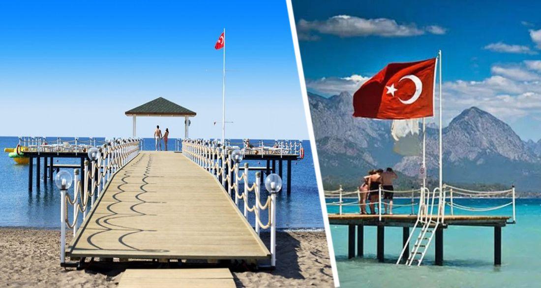 На пляжах отелей Турции ликвидируют причалы и пирсы