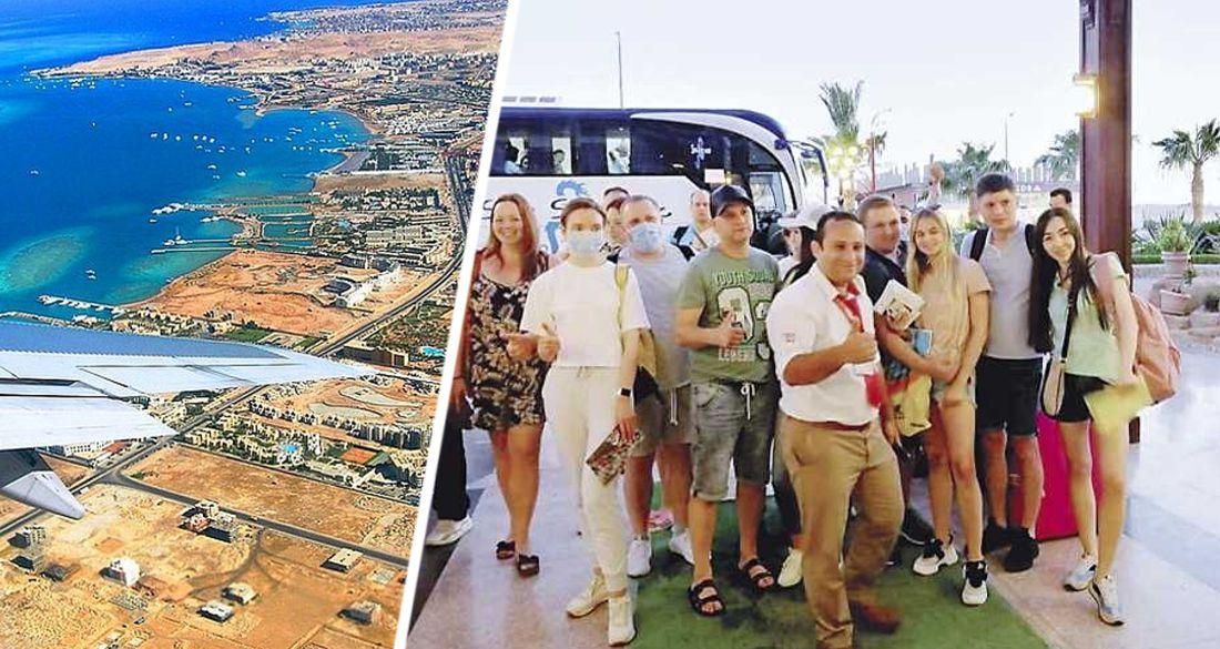 С цветами, музыкой и напитками: отели Хургады приняли первых российских туристов нового рейса