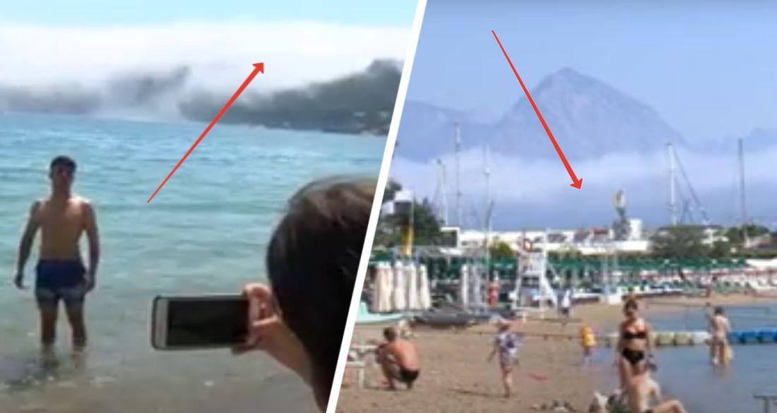 Странный туман накрыл пляжи Кемера и напугал туристов. Видео