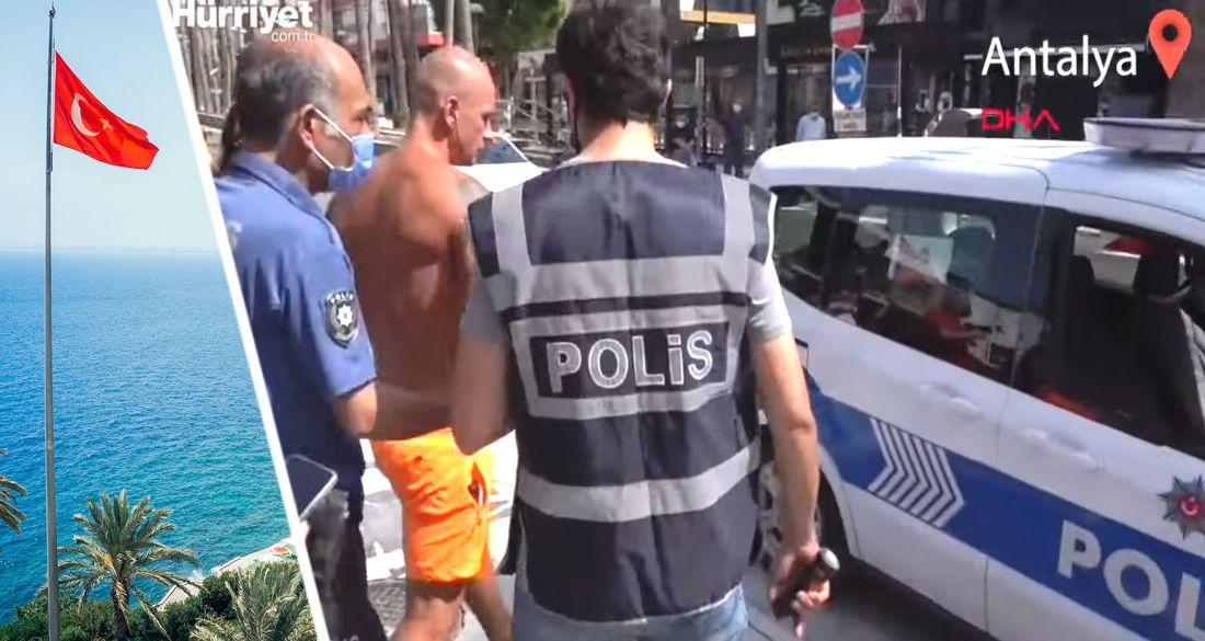 Как туриста Соловьева в трусах и без маски в Анталии арестовывали. Видео