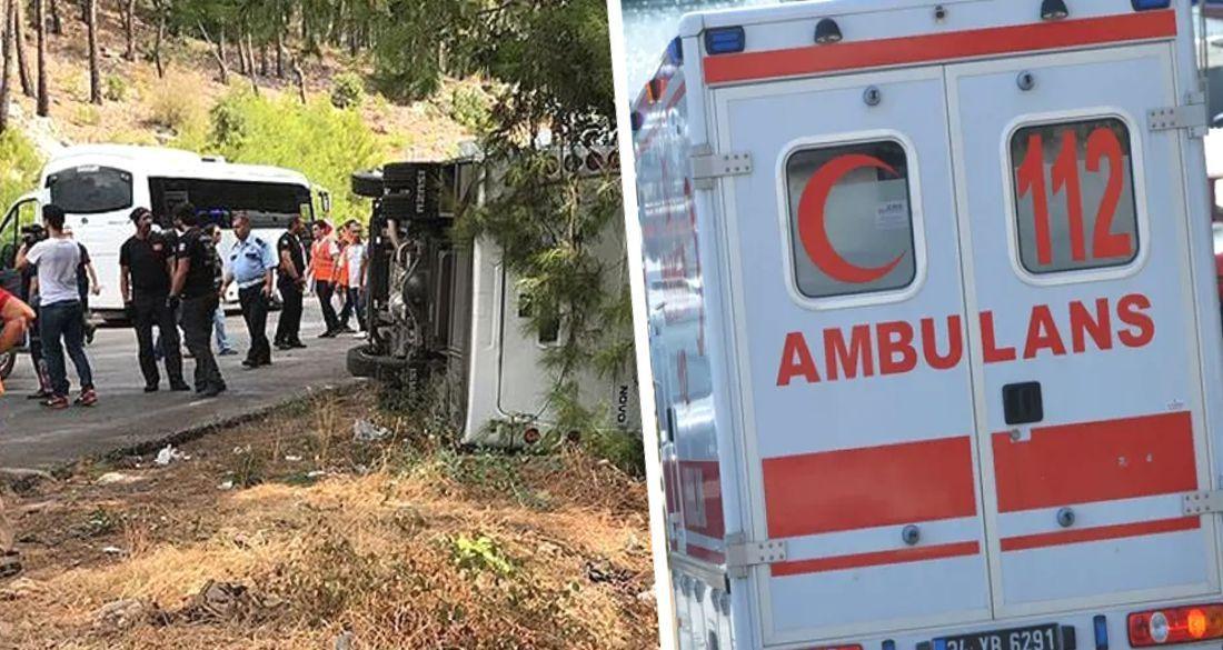 В Анталии автобус турфирмы попал в аварию: есть пострадавшие