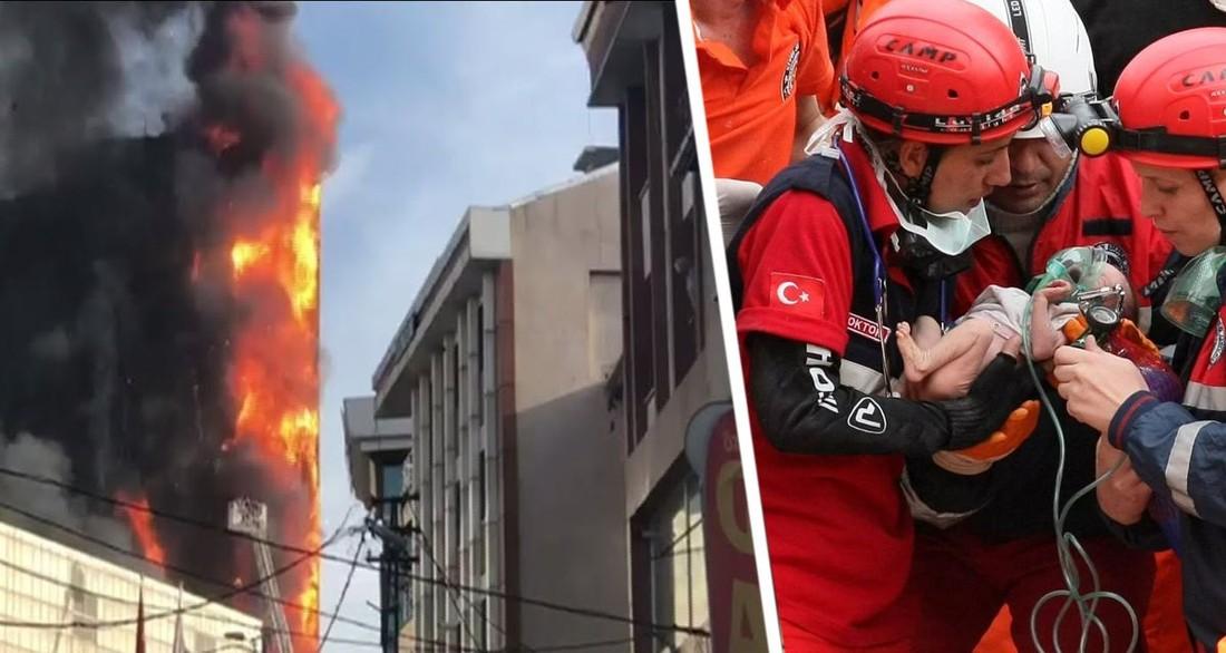 В Турции загорелся отель: туристы выпрыгивали из окон
