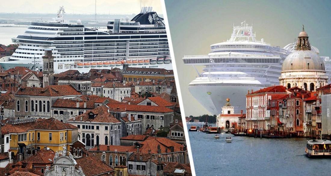 Убирайтесь вон: круизный лайнер в Венеции встретили протестами