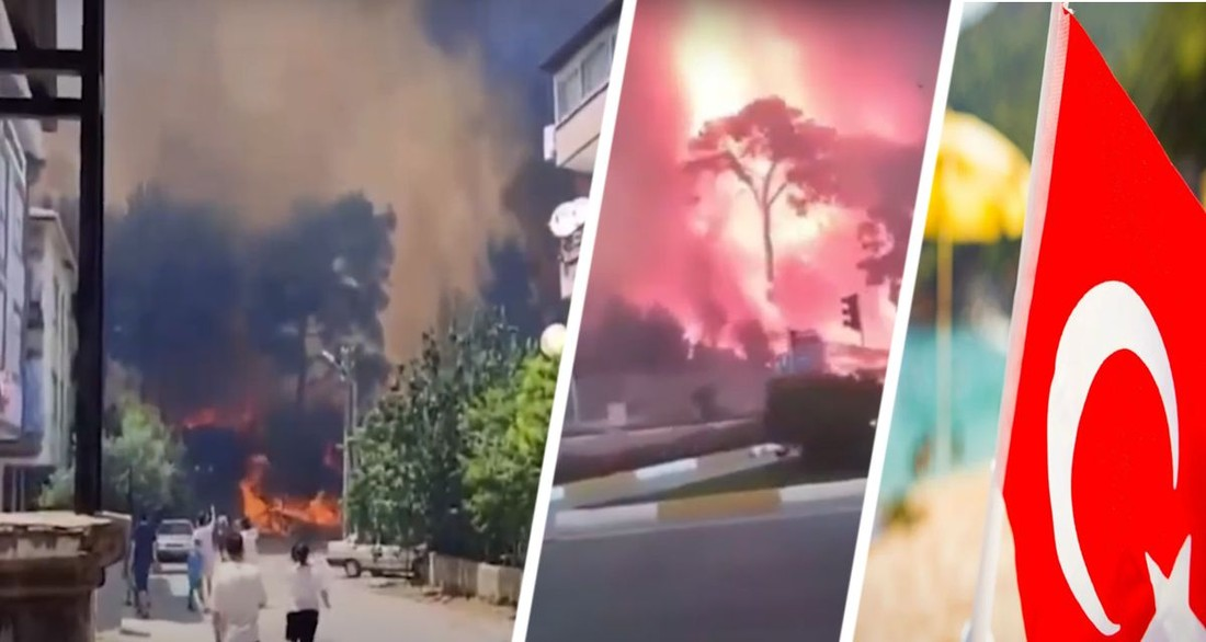 Анталия горит: экскурсии остановлены, курорт тушат 15 вертолетов, опубликовано видео