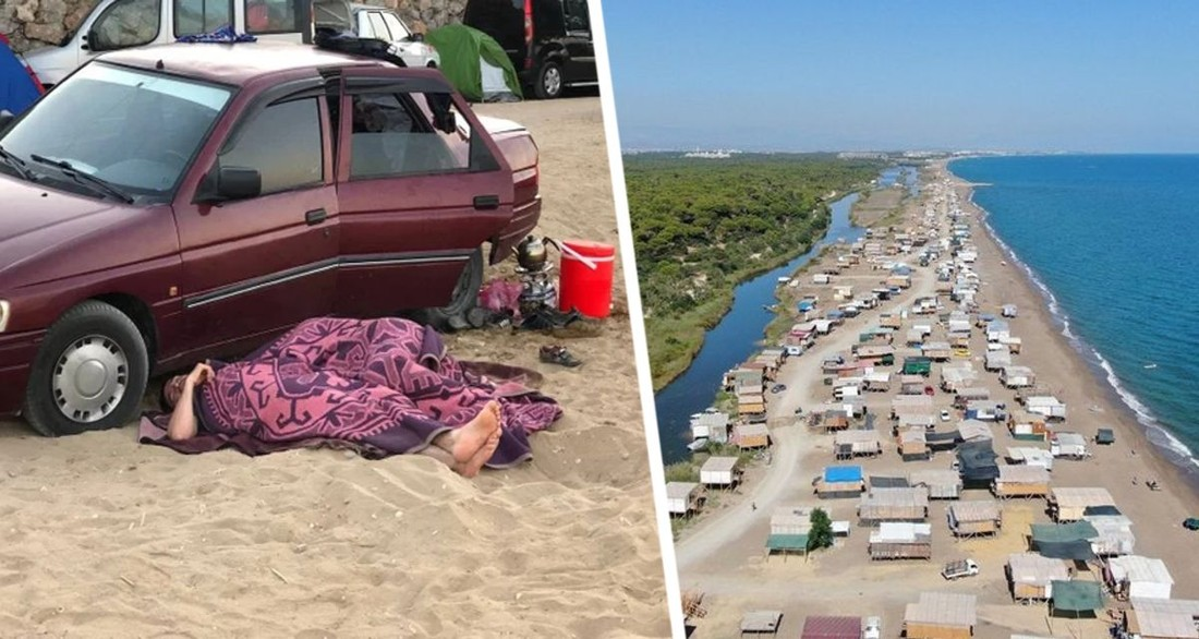 В Анталии отмечается коллапс: кругом люди, спящие на обочинах, пляжи усеяны лачугами туристов