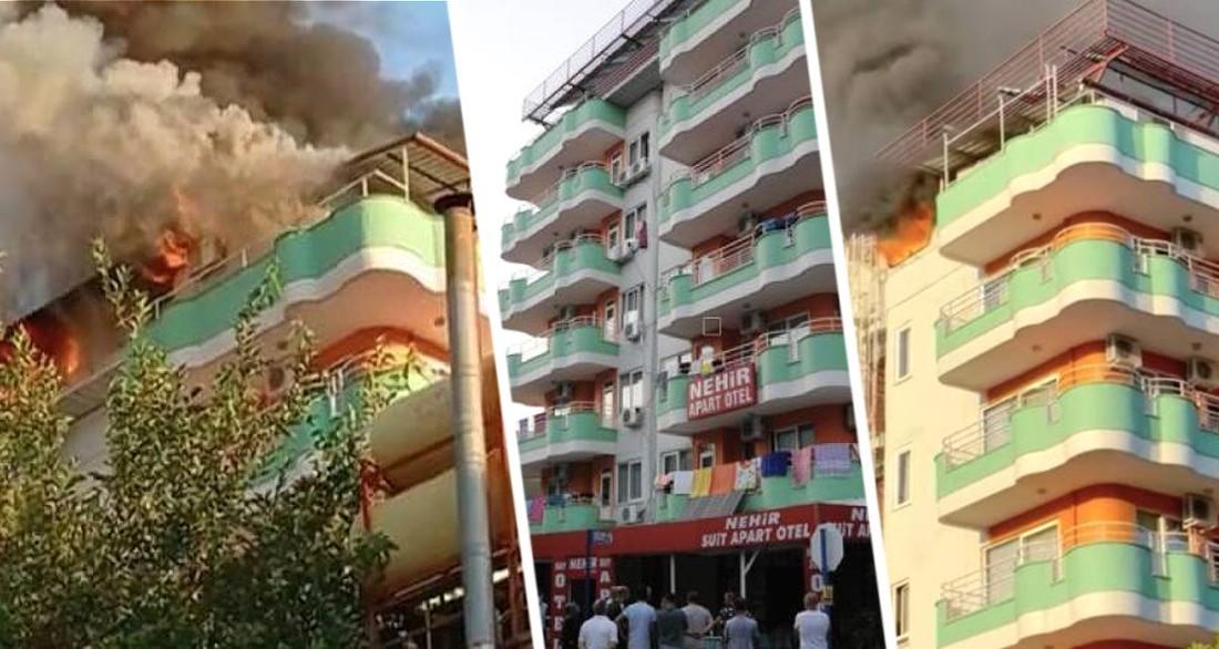 В Турции загорелся отель, забитый туристами