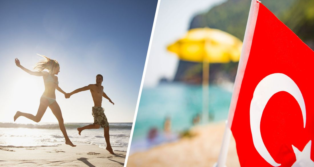 Адская жара накрыла Анталию: туристы массово спасаются от непогоды в море