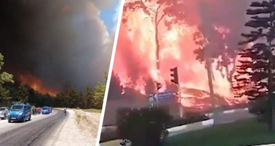 Эвакуация туристов началась: пожары в Турции дошли до отелей