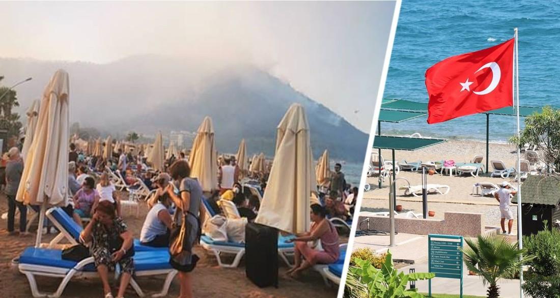 В Турции туристы из 20 отелей ночуют на пляжах вместо номеров