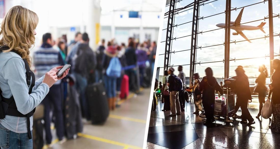Российские туристы рассказали почему они выстраиваются в длинные очереди перед самолетом