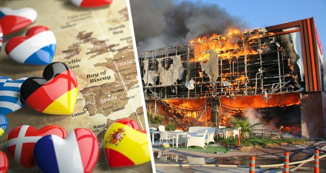 Туристам выпущено предупреждение: кроме Турции, начались пожары в Италии, Греции и Тунисе