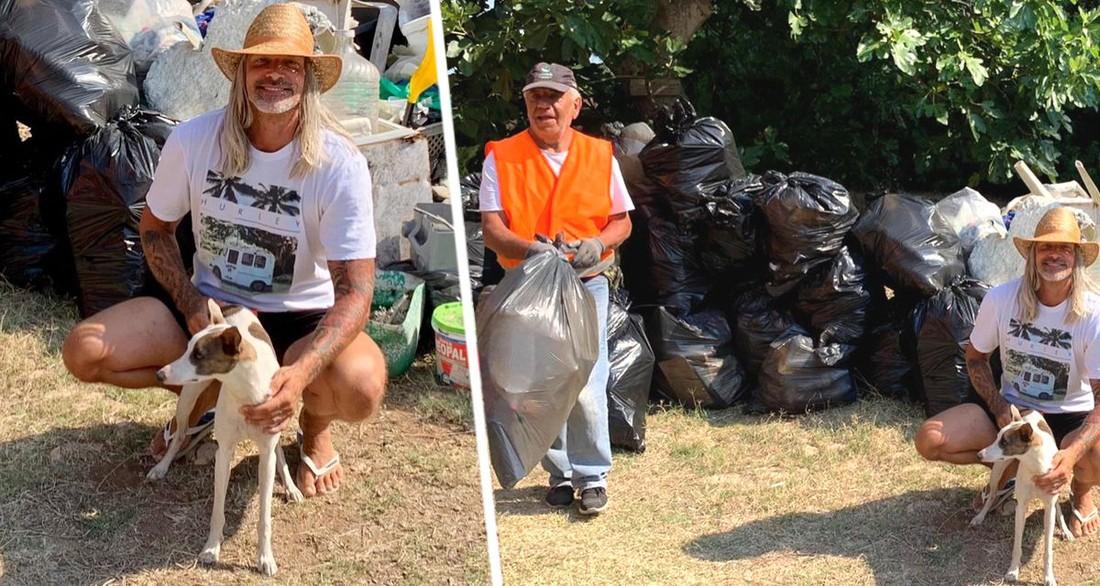 В Греции турист целый месяц убирал мусор со своего любимого пляжа