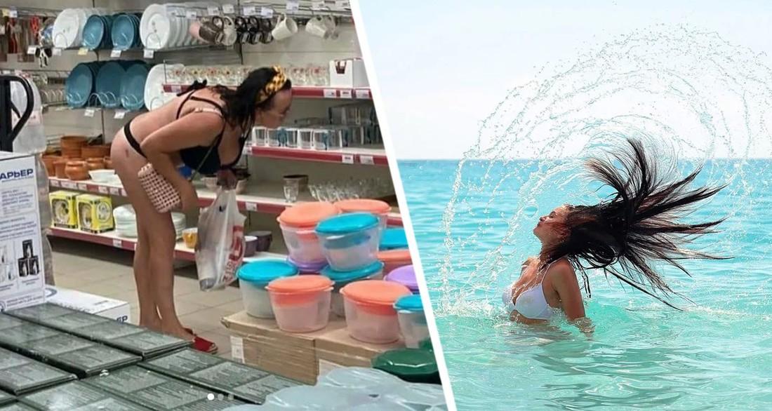 Туристы в мокрых плавках в магазинах и дамы в лифчиках и стрингах: в Сочи возмутились поведением отдыхающих