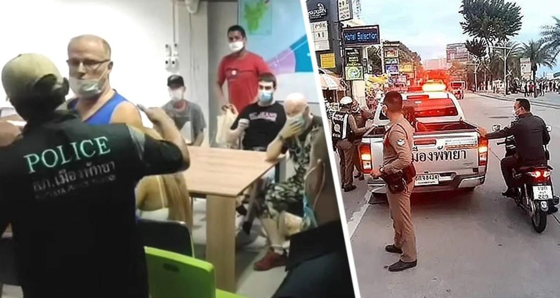 В Паттайе арестованы 18 туристов: путешественникам грозит по 2 года тюрьмы за вечеринку