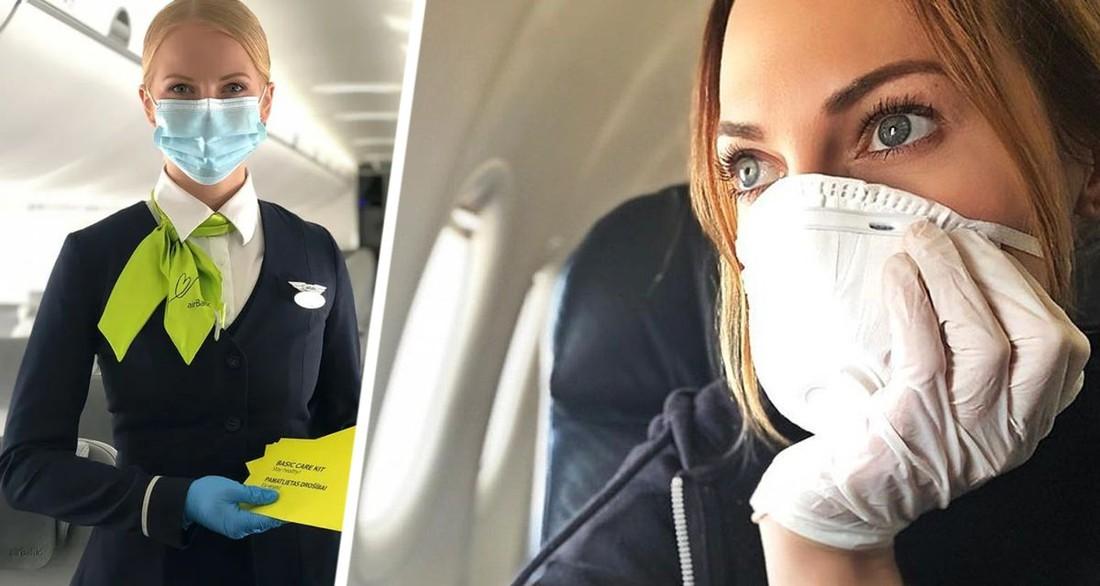 Авиакомпания запретила подниматься на борт пассажирам в тканевых масках