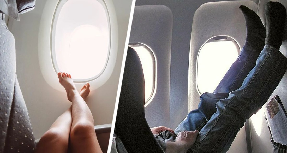 Стюардесса разъяснила, почему туристы никогда не должны снимать обувь во время полета
