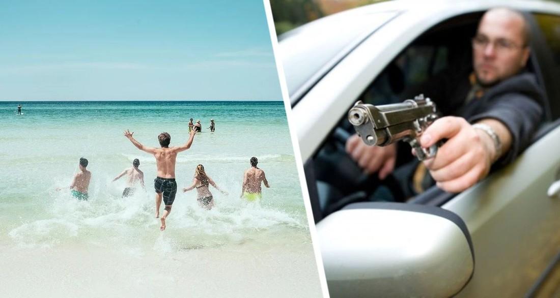 Главу полиции курорта задержали за стрельбу в пьяном виде из окон машины по туристам