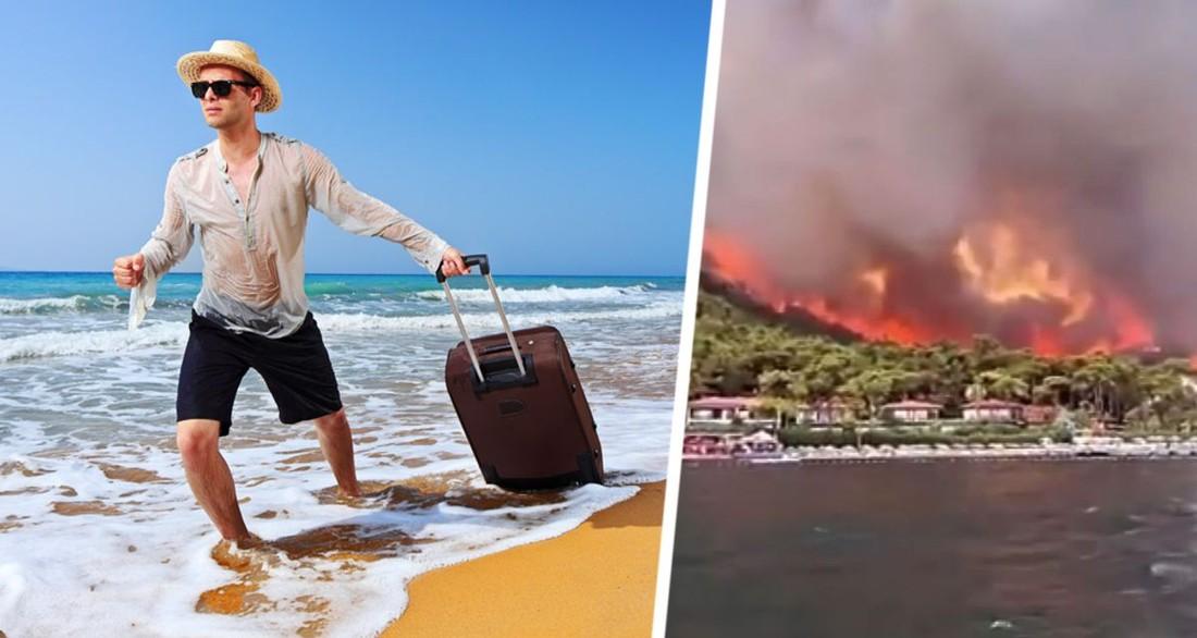 Подсчитано, насколько туристы испугались пожаров на курортах Турции