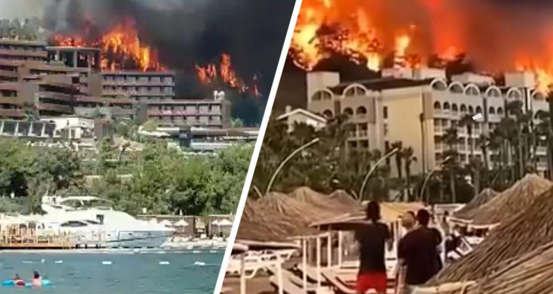 Сказали, что отель сгорел только наполовину: спасшихся российских туристов вернули и заселили обратно