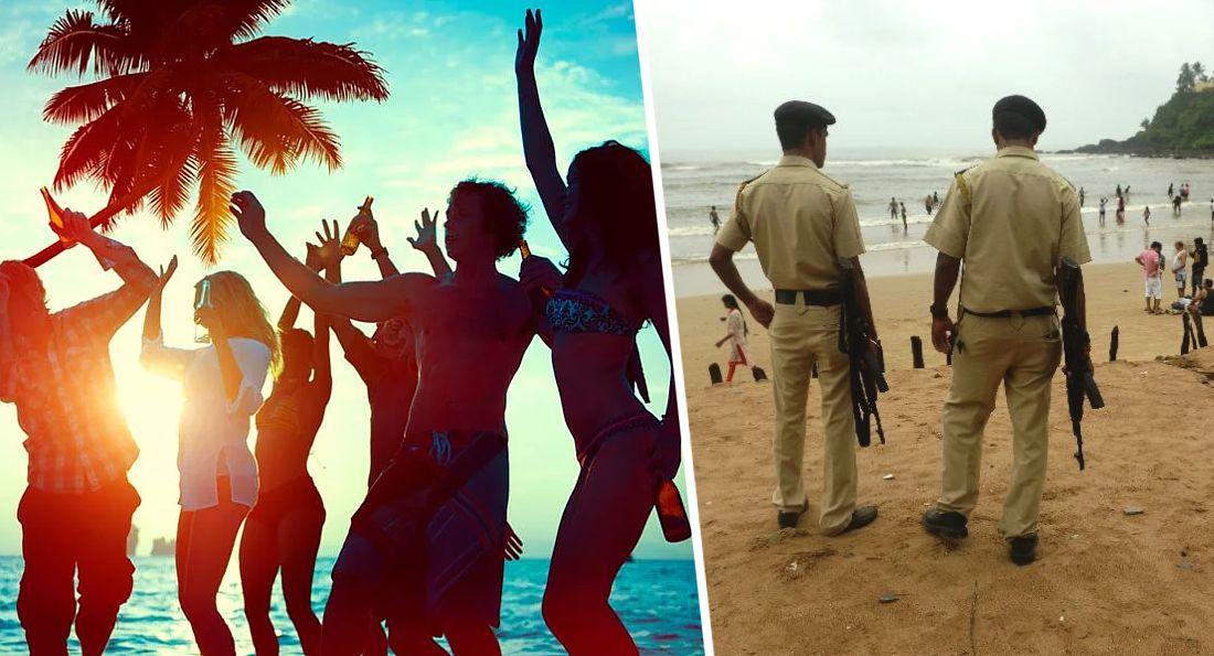 Перед открытием для иностранных туристов на пляжах Гоа начались зачистки торговцев, нищих, и пресечение распития алкоголя