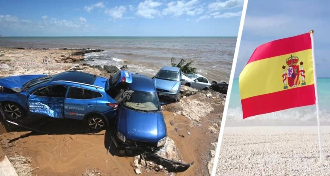 Разрушительное наводнение смыло пляжи в Испании